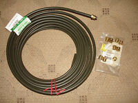 "BRAND NEW 3/8"" POLY-ARMOUR PVF COATED FUEL LINE 25' FEET"