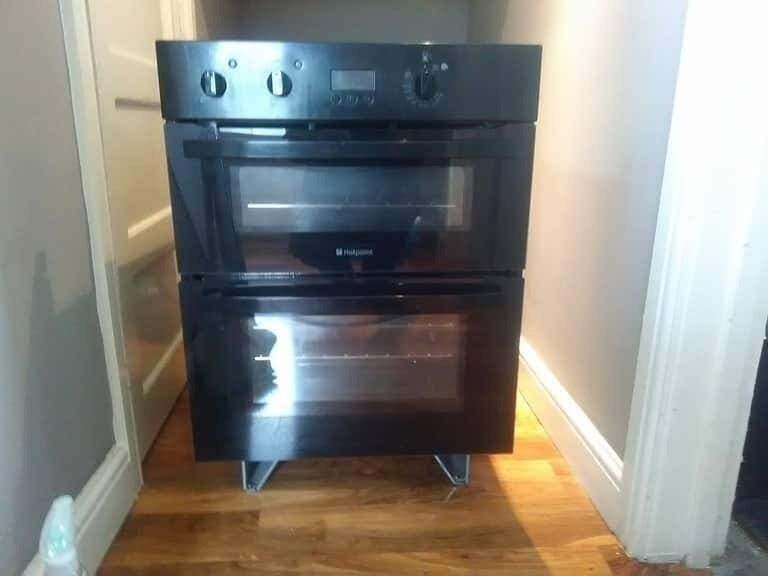 Black Hotpoint Built Double Electric Under Bench Built In Fan Assisted Oven With Manual In Gateshead Tyne And Wear Gumtree