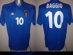 Italy-Italia-ROBERTO-BAGGIO-Kappa-Shirt-Jersey-Football-Soccer-Adult-XL-Vintage
