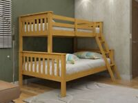 New pine triple sleepers bunk beds free delivery