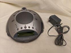 Homedics SS-4000 Alarm Clock AM/FM Radio Nature Sounds Projector TESTED