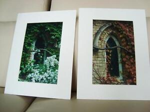 Pair of Professional Art Photos -2 Seasons- Church in Toronto