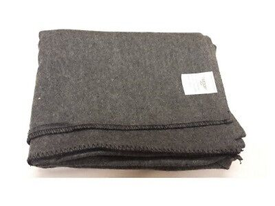 Military Wool Blanket, Grey on Rummage