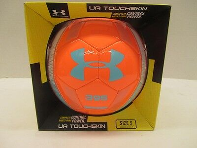 UA Under Armour Touchskin 395 Blur Soccer Ball SB872 Coral Teal