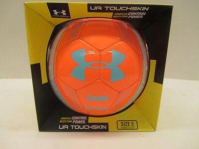 UA Under Armour Touchskin 395 Blur Soccer Ball SB872 Coral Teal