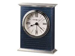 Mission Cobalt Blue Table Clock by Howard Miller
