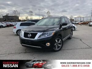 2015 Nissan Pathfinder platinum pkge awd,accident free and low k