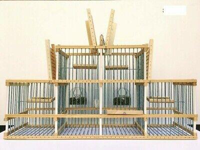Jaula trampa artesanal con cuatro huecos más zona de reclamo. 60x12x29,5 cm