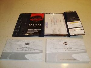 Nissan Maxima 2001 Anniversary Edition Owners Manual /Warranty