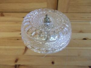 FLUSH MOUNT CRYSTAL CHANDELIER CEILING OR WALL LIGHT