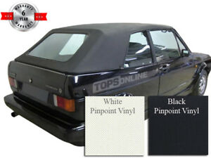 VW Rabbit Cabriolet Convertible Top Cover & Install Video, 80-94 Pinpoint Vinyl