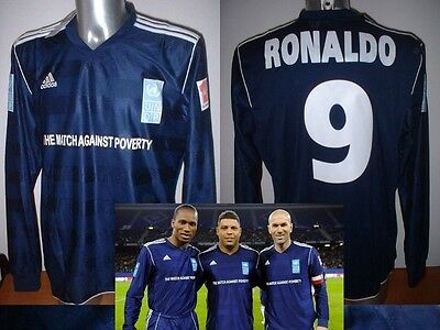 Adidas Ronaldo Shirt Jersey Brazil XL 2011 Match Against Poverty Soccer Football