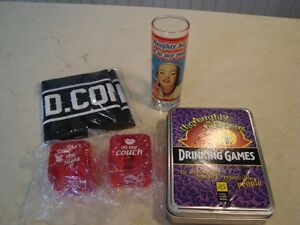 Set of Barware, Drinking Games and Love Dice -All for $3.50