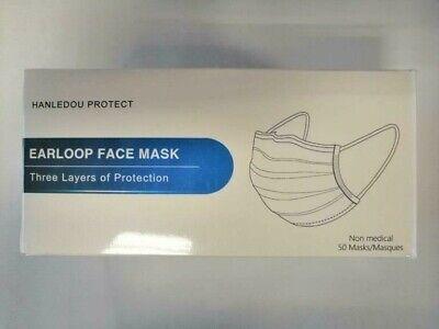 Einweg-Mund-Nasen- und Spuckschutz 50er Pack Maske Mundschutz