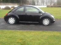 VW Beetle Black good condition 125000 miles, FSH , 2nd owner from new