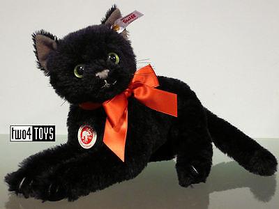 STEIFF ESMERALDA CAT with GLOW IN THE DARK EYES 11in./28cm EAN 682827 RETIRED