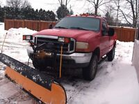 1999 FORD F250 2 DOOR 4X4 with PLOW