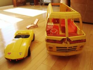 Vintage Barbie 1979 Supervette Yellow Corvette -For Parts/repair Kitchener / Waterloo Kitchener Area image 2