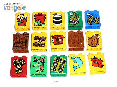 LEGO DUPLO 15 STAMPATI pietre colorato miste 15 pezzo PIETRA (D089)
