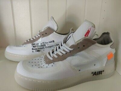 Nike air Off White Air Force 1 White Uk Size 10