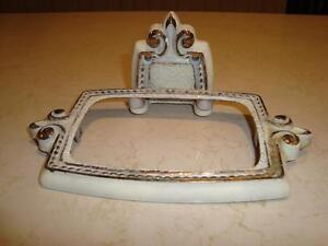 Vintage Cast Metal Soap Dish Holder-From an Old Hotel in Preston