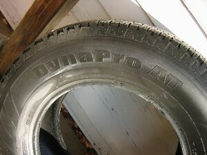 Set of 4 Hankook Dynapro AT M & S Truck Tires Used Kingston Kingston Area image 3