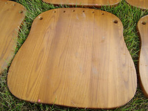 Selling 20 Solid Oak Stained,Clear Coated Contoured Chair Seats Kitchener / Waterloo Kitchener Area image 4