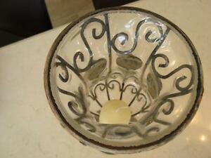 "Goblet Style Wrought Iron/Glass Candle Holder Or Flower Vase 16"" Kitchener / Waterloo Kitchener Area image 5"