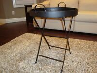Solid Black Iron Round Table (Folding) - Brand New Never Used
