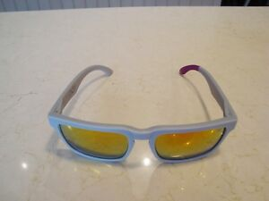 "Spy Mens Sunglasses Helm ""Block"" Grey/Purple - Brand New"
