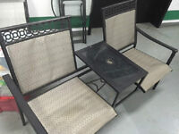 Patio BENCH - SEATS TWO / beach umbrella + stand - Impecable
