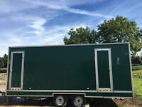 Mobile Toilet Block for sale - separate male and female cubicles, sinks, mirrors.