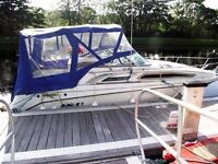 Rinker Cabin Cruiser Built in 1995,Powered by a Mercruiser Inboard Engine, Custom Built Trailer.