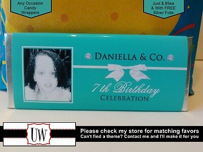 Tiffany And Co Party Favors (Tiffany & Co Candy Bar Wrappers Favors Party Bridal Baby Shower Birthday)
