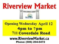 RIVERVIEW MARKET is OPEN for the Season EACH WEDNESDAY 4pm-7pm