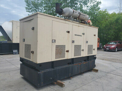 Tested 175 Kw Diesel Generator Generac Enclosed Base Tank 480v Hino Ek130 Lowhrs