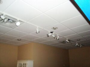"Juno Track Lighting - 315"" (26 feet) of Track and 15 Bulb Heads"