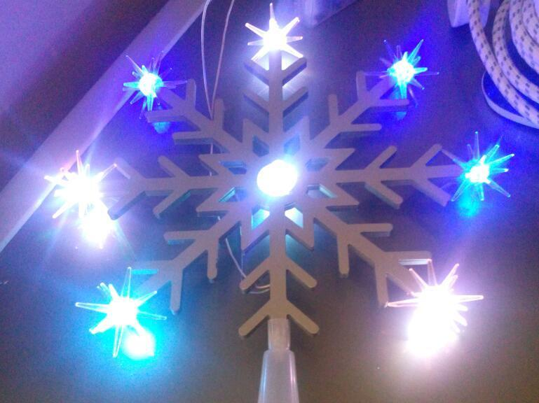 Large battery operated tree top star led multi coloured