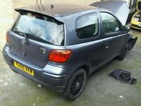 TOYOTA YARIS FACE-LIFT 2005 1.0 SPARES OR REPAIR HPI CLEAR REPAIRABLE START DRIVE