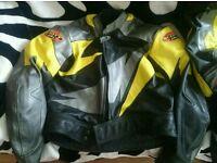 Scott 2 piece motorcycle leathers