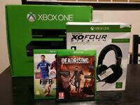 Xbox One 500gb bundle with kinect, Turtle beaches XOFour, Dead Rising 4, Fifa 15