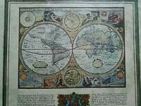 Framed picture 'World Map'