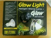 New unused Exo Terra Glow Light Halogen Clamp Lamp (Small 14cm)