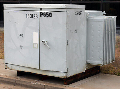 Abb V42a5643mn Oil Filled High Voltage Transformer 4160v 208y120 500kva