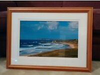 Whitepark Bay photograph in bespoke waxed solid pine frame with double mount