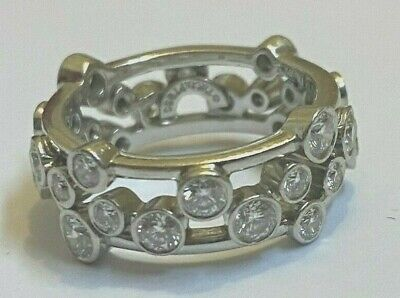 100% authentic Tiffany & Co. platinum bubbles collection eternity ring size (Tiffany And Co Infinity Collection)