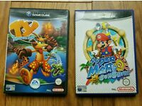 Gamecube Games - Super Mario Sunshine & Ty The Tasmanian Tiger