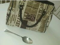 Newspaper style bag (fabric - not real newspaper)