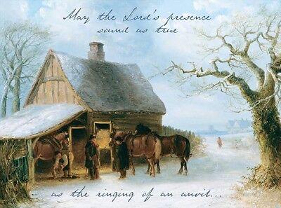 Lord's Presence... Ring of anvil Farrier Blacksmith Horseshoer Christmas Cards