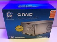 ***NEW SEALED - GRAID G-RAID G-TECHNOLOGY 8TB - USB 3 3.0 FIREWIRE ESATA RAID HARD DRIVE 0G03245***
